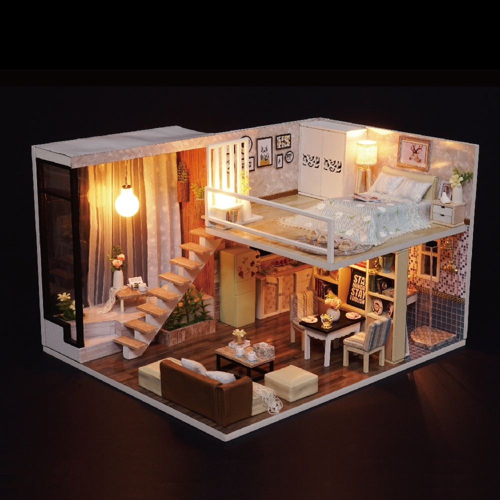 Mô hình gỗ tự lắp ráp DIY Penthouse 7