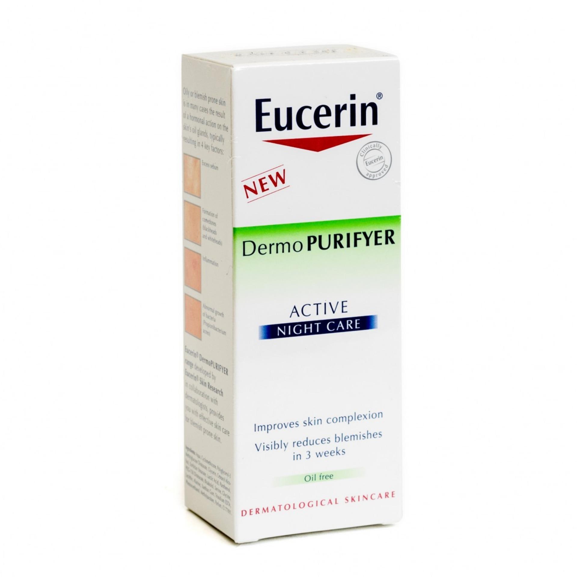 Hình ảnh Kem dưỡng ẩm cân bằng dầu cho da mụn Eucerin Active Night 50ml