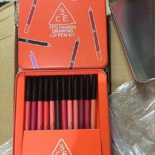 Hình ảnh Bộ Chì Môi 3CE 12 Cây Hộp cam