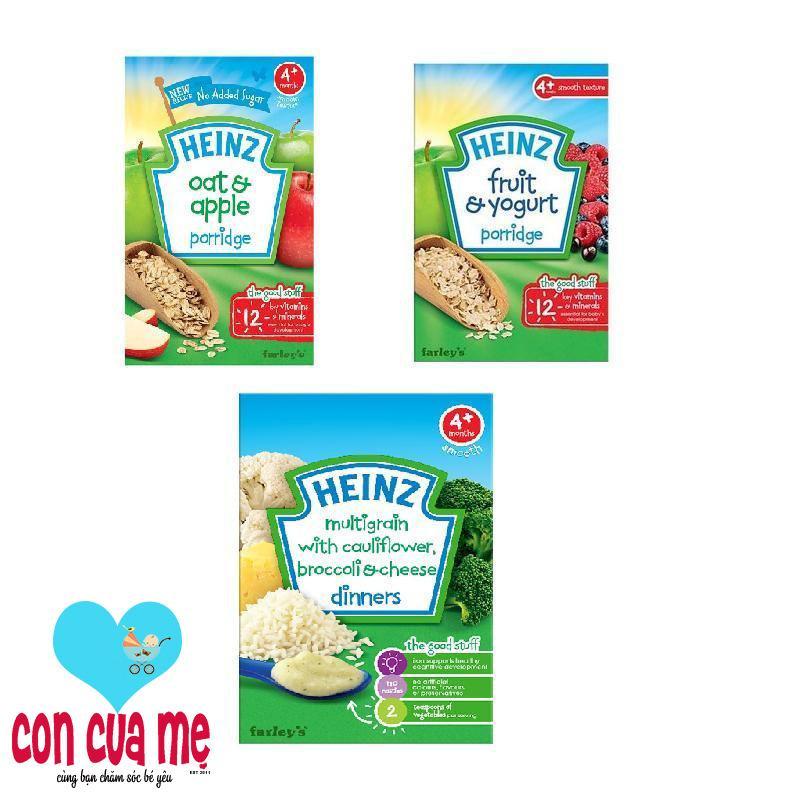 Ôn Tập Cửa Hàng Bộ 1 Hộp Bột Ăn Dặm Vị Sup Lơ Bong Cải Pho Mai Bột Ăn Dặm Vị Sữa Chua Trai Cay Bột Ăn Dặm Vị Ngũ Cốc Yến Mạch Tao Heinz Trực Tuyến