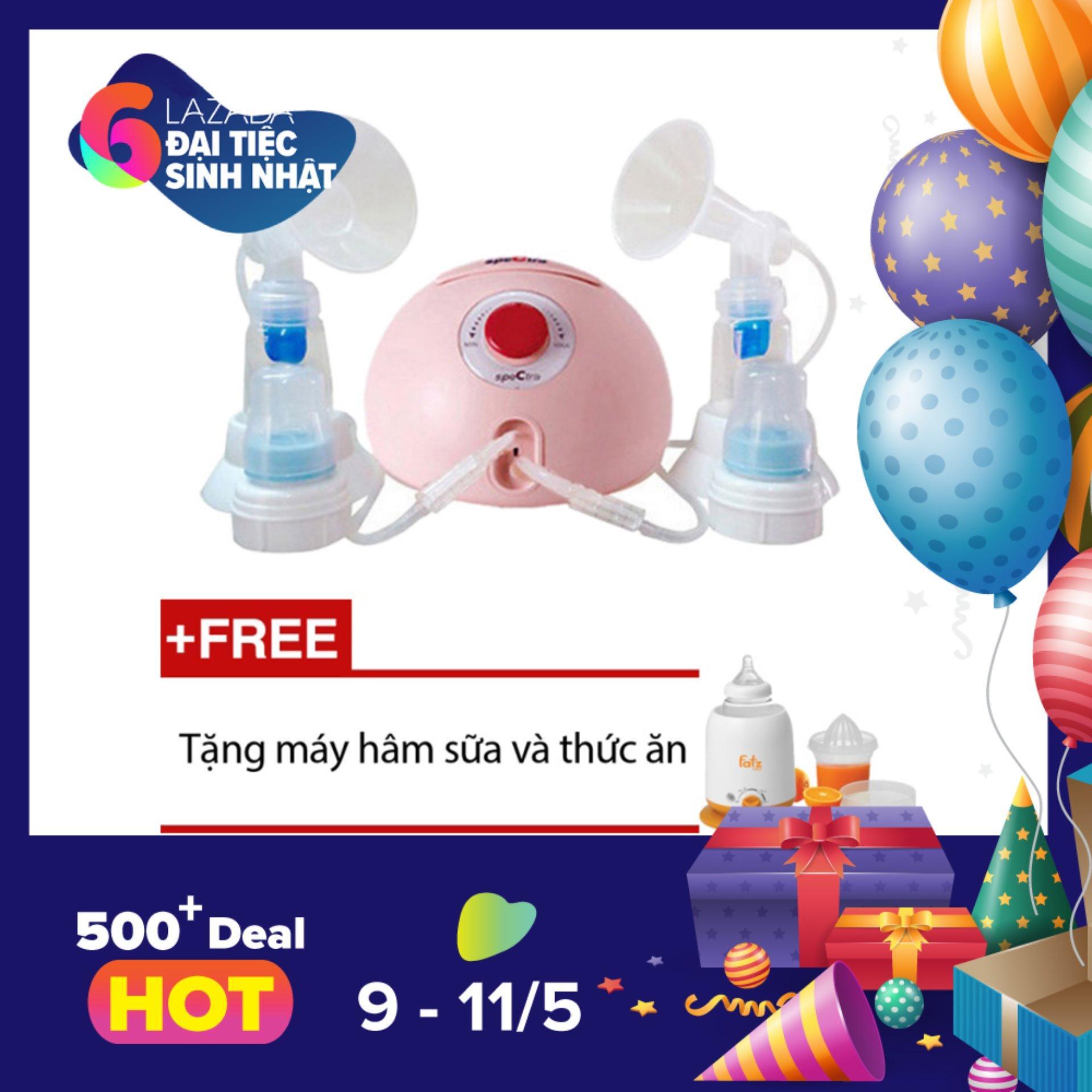 Giá Bán May Hut Sữa Spectra Dew 350 Hồng Tặng 1 May Ham Sữa Va Thức Ăn Fatz Baby Fb3002Sl Nguyên