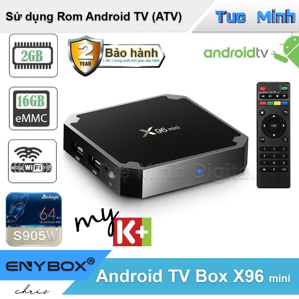 Hình ảnh Android TV Box X96 mini 2G ram và 16G bộ nhớ trong - BH2 năm, AndroidTV, MyK+