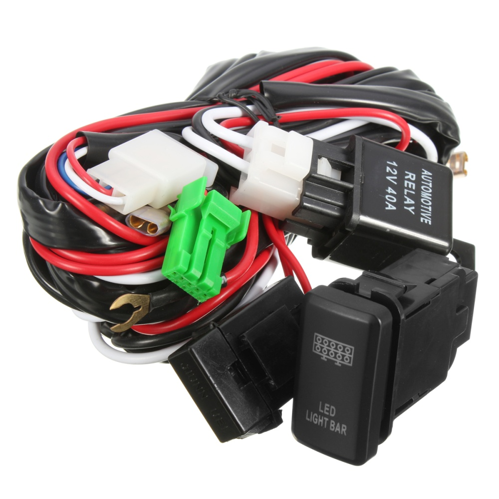 40a 12v Led Light Bar Wiring Harness Relay Switch For Toyota Off Bars 1 X Setled