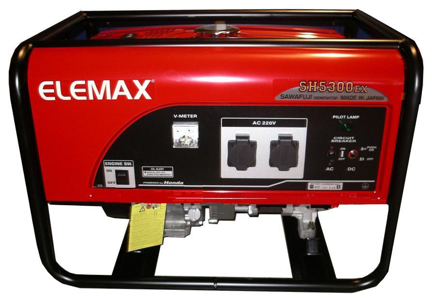 Elemax SH5300EX | 4,7KVA, Japan, có sẵn HN, SG, mới 100%, hôm nay
