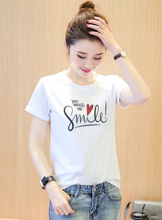 Hình ảnh AO THUN NU YOU MAKE ME SMILE ATNK960 Form Rong Han quoc 102 For Women