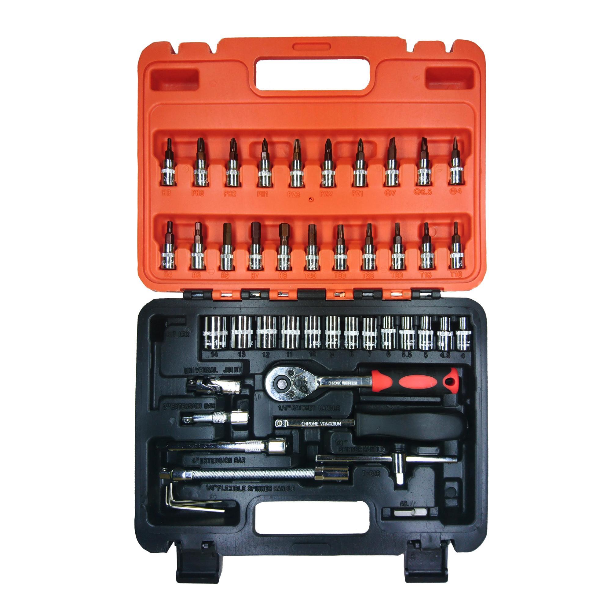 Bộ dụng cụ sửa chữa ô tô xe máy 46 món cao cấp - Bộ dụng cụ sửa chữa đa năng Satagood