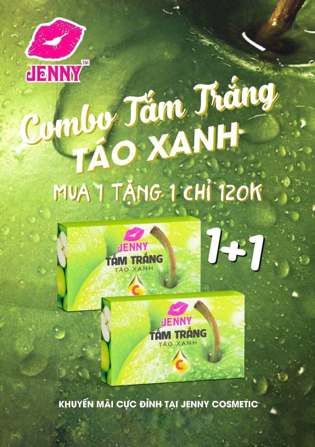 Hình ảnh Tắm Trắng Mạnh Táo Xanh Vitamin C Jenny 1 Tặng 1 Táo Xanh Vitamin C Jenny