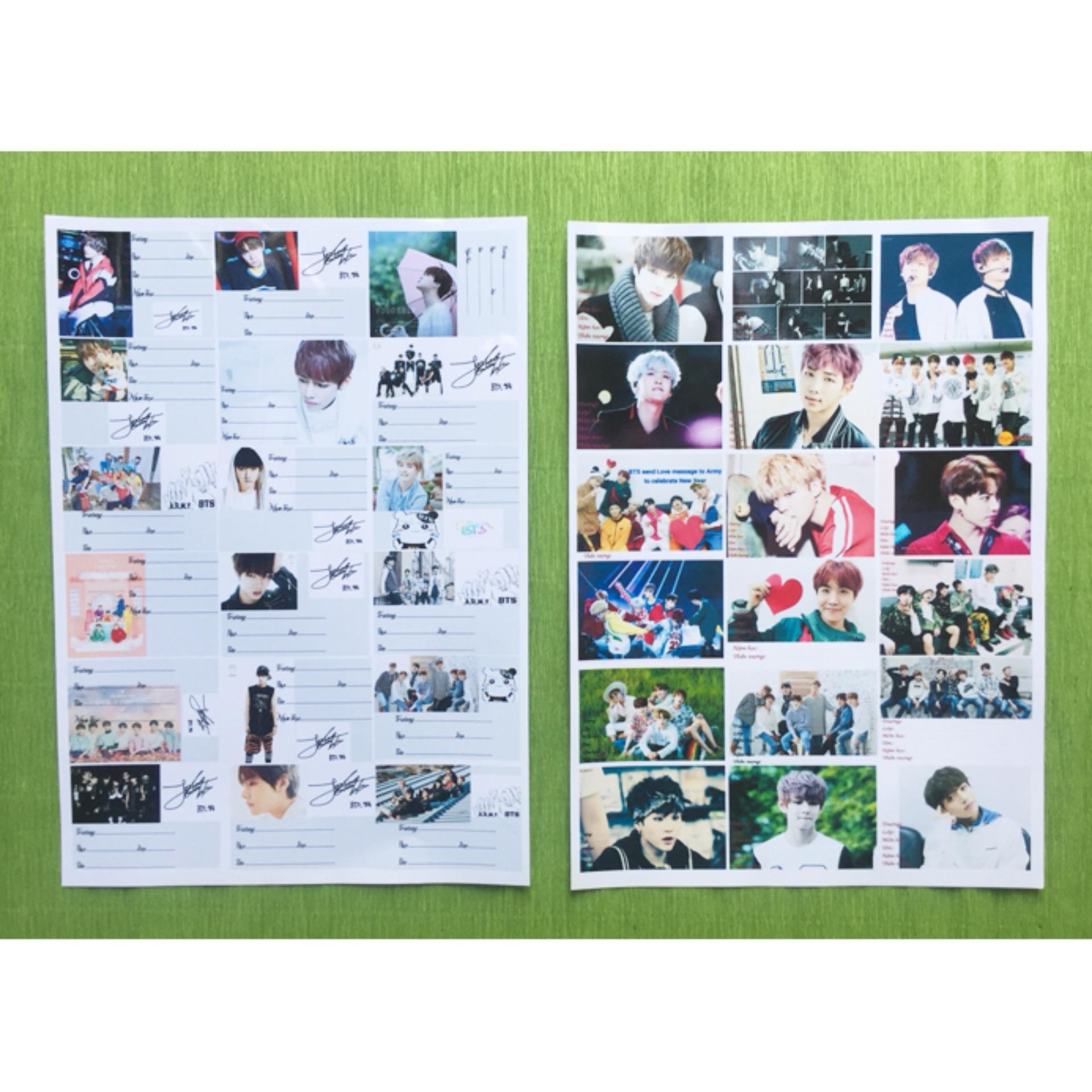 Mua Combo 90 nhãn vở BTS tặng 1 móc khóa in hình BTS