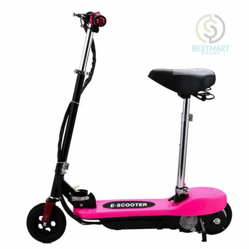 Xe scooter điện E-Scooter 15km/h, tải trọng 80kg, 120w (Pink)