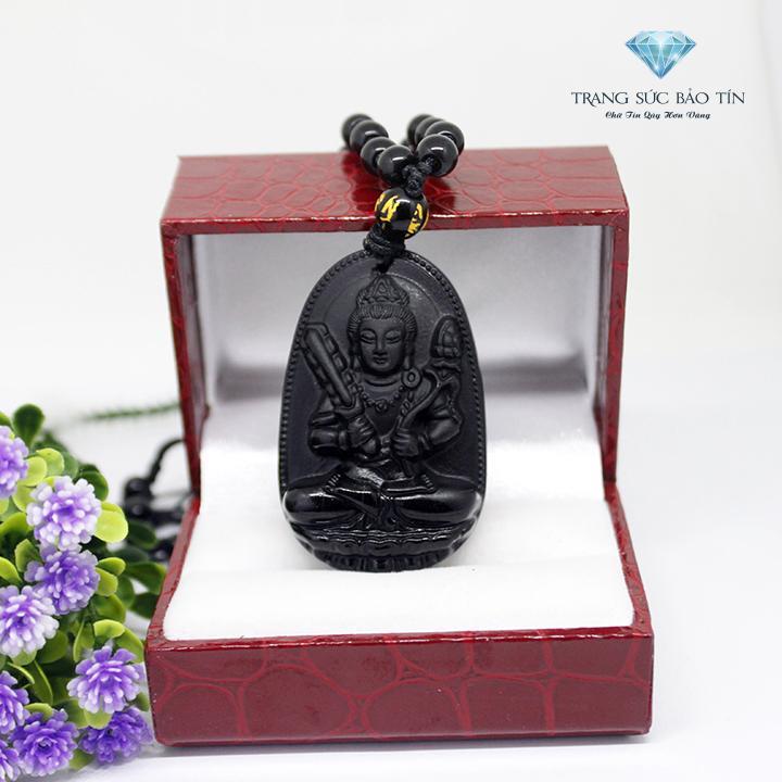 Giá Bán Rẻ Nhất Mặt Day Chuyền Phật Hư Khong Tạng Bồ Tat Obsidian Phong Thủy Bảo Tin Đen