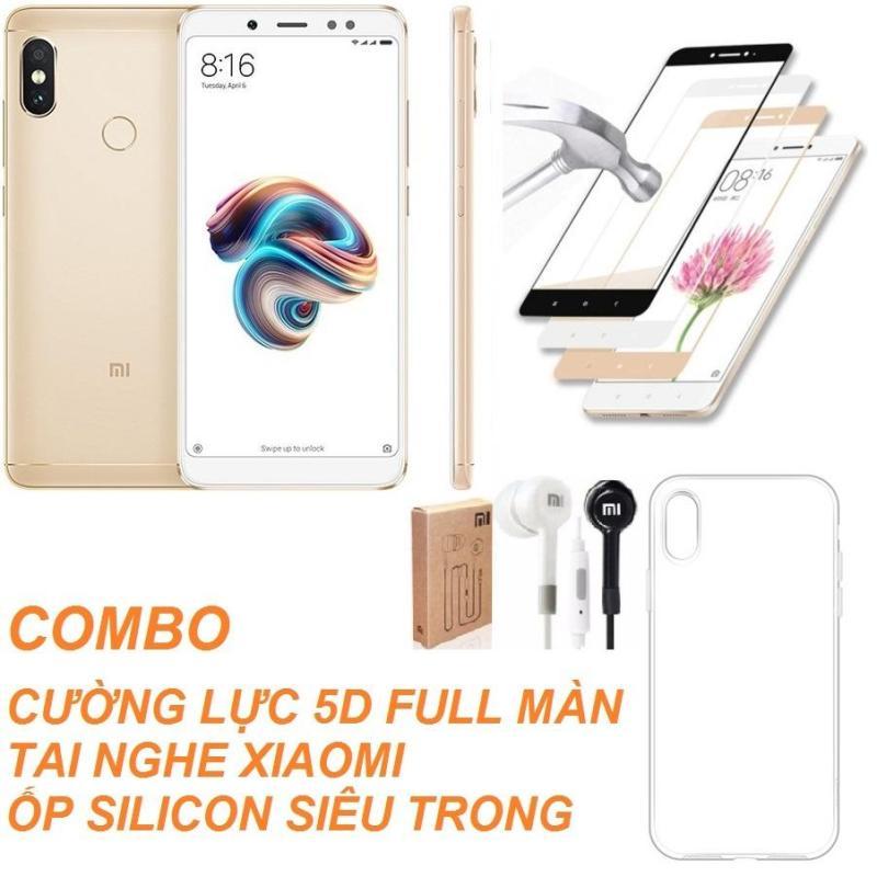 Xiaomi Redmi Note 5 Pro 32GB Ram 3GB (Vàng) + Cường lực 5D Full màn + Ốp lưng + Tai nghe - Hàng nhập khẩu