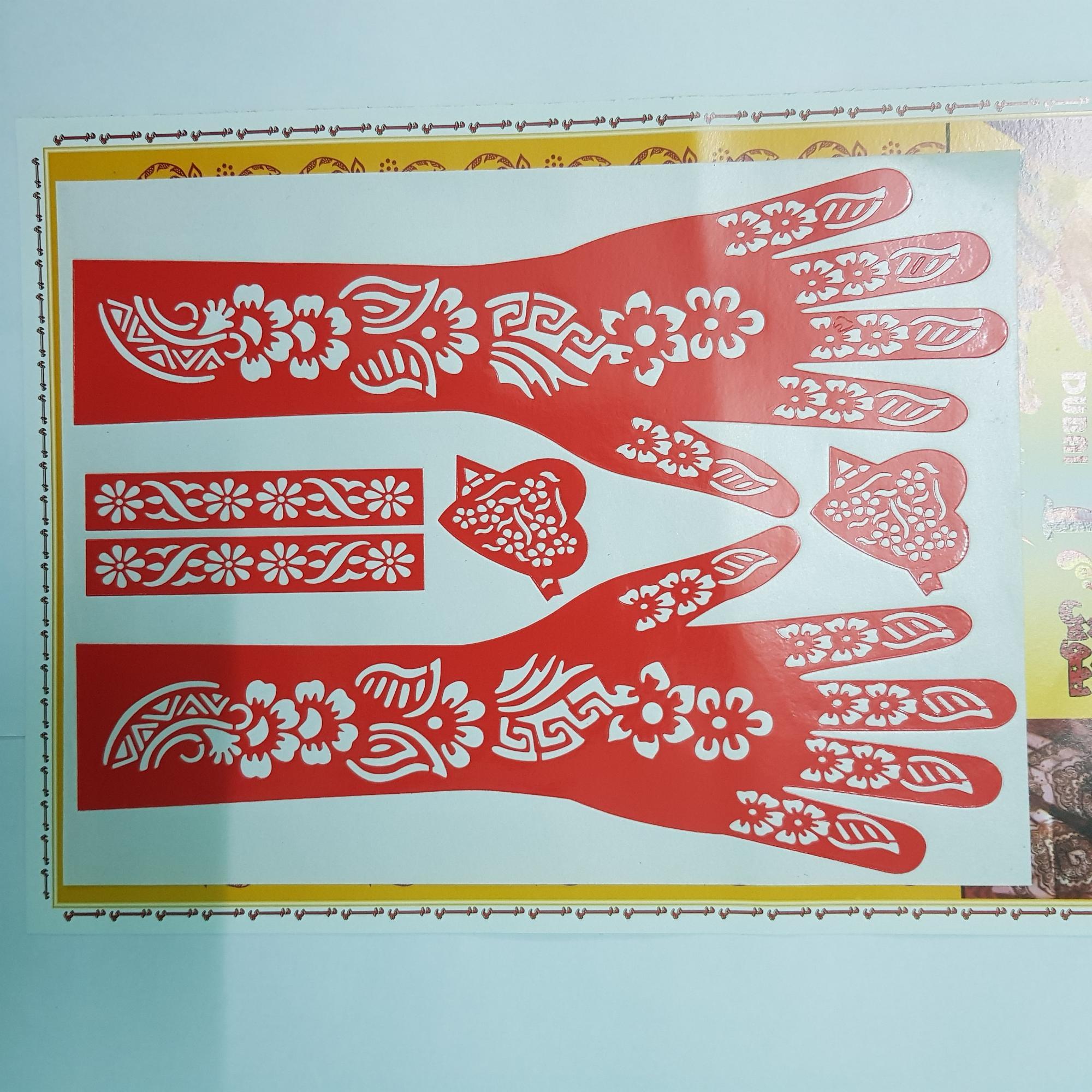 Set khuôn vẽ henna tay và eo