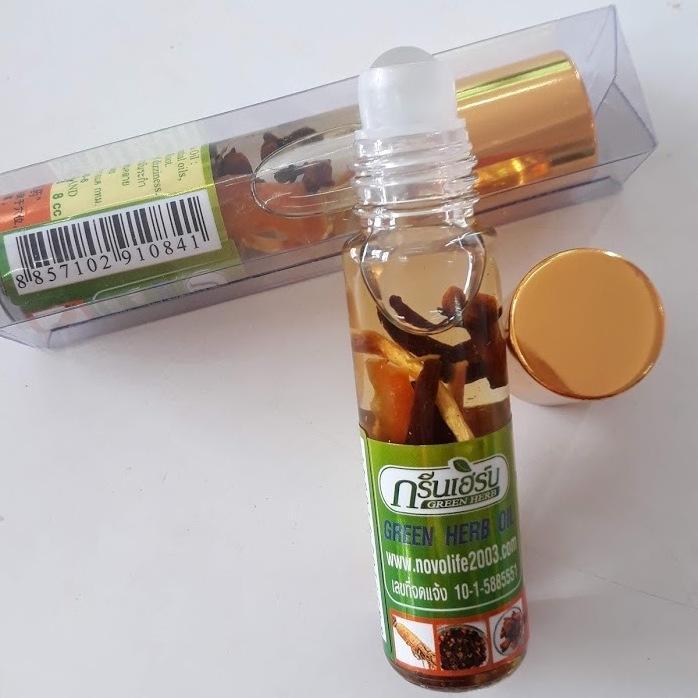 Combo 6 chai dầu gió lăn thảo dược nhân sâm Thái Lan