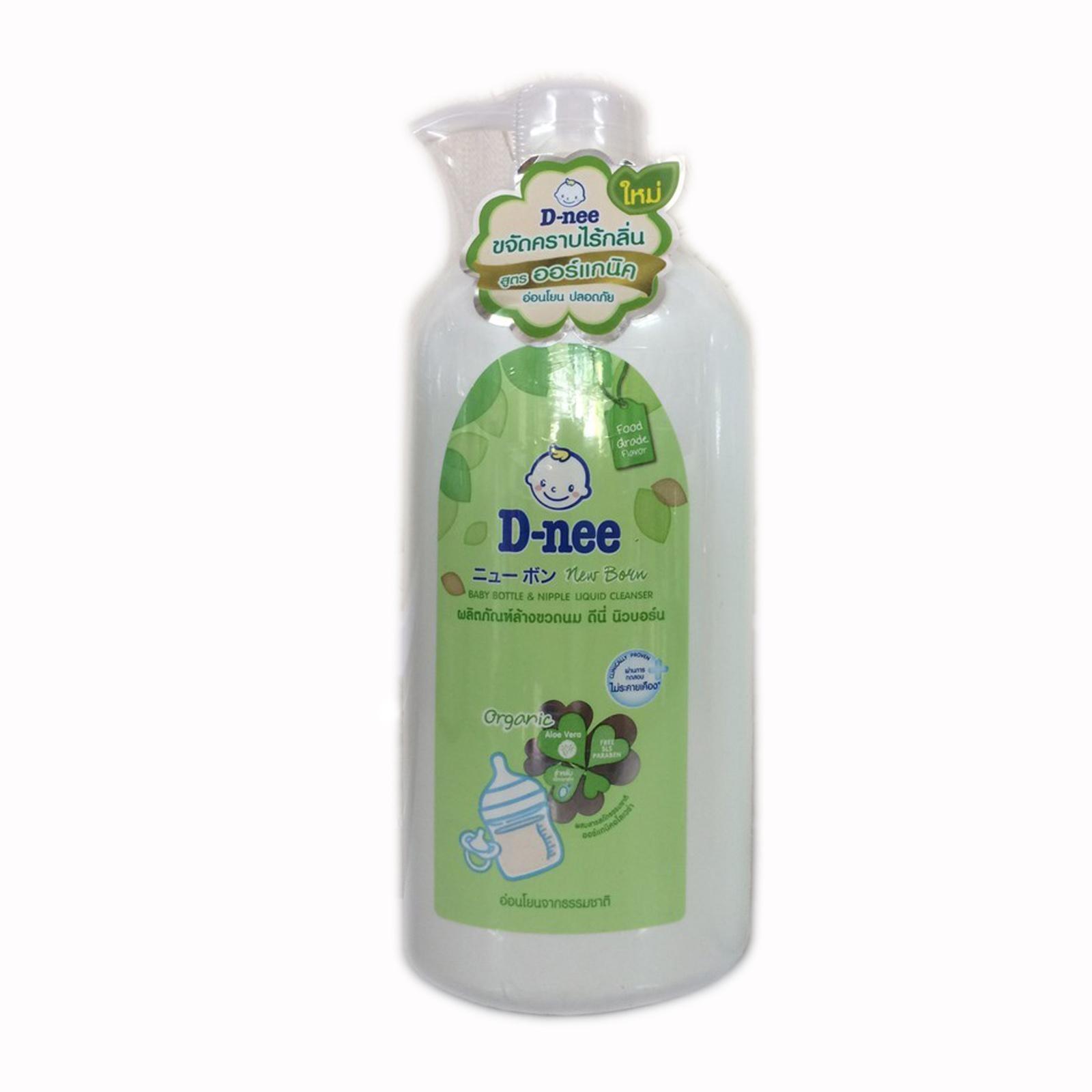 [MẪU MỚI] Nước rửa bình sữa Dnee Organic dạng chai 620ml