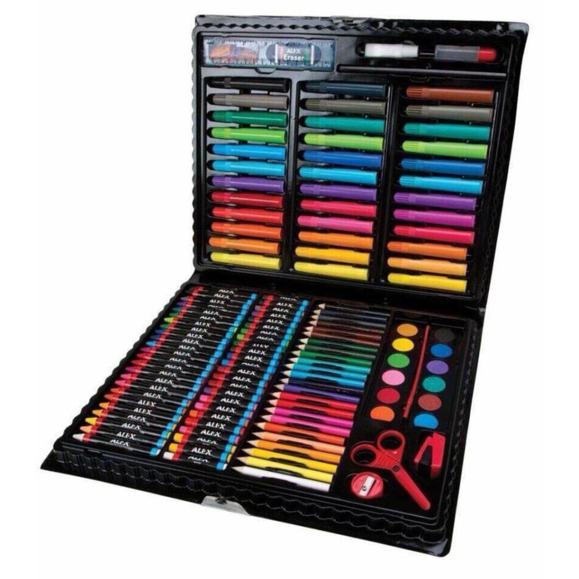 Hình ảnh Bộ bút màu 151 món (Màu dạ, màu chì, màu nước)