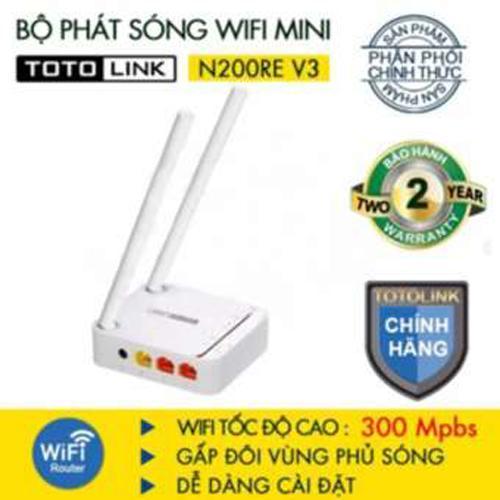 Hình ảnh Bộ phát Wifi 300Mbps ToToLink N200RE-V3 (Trắng) - HÃNG PHÂN PHỐI CHÍNH THỨC