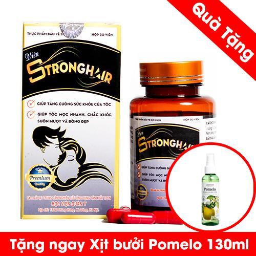 Viên Uống Stronghair giảm gãy rụng , ngăn ngừa bạc Của Học Viên Quân y Tặng 1 pomelo dưỡng tóc nhập khẩu