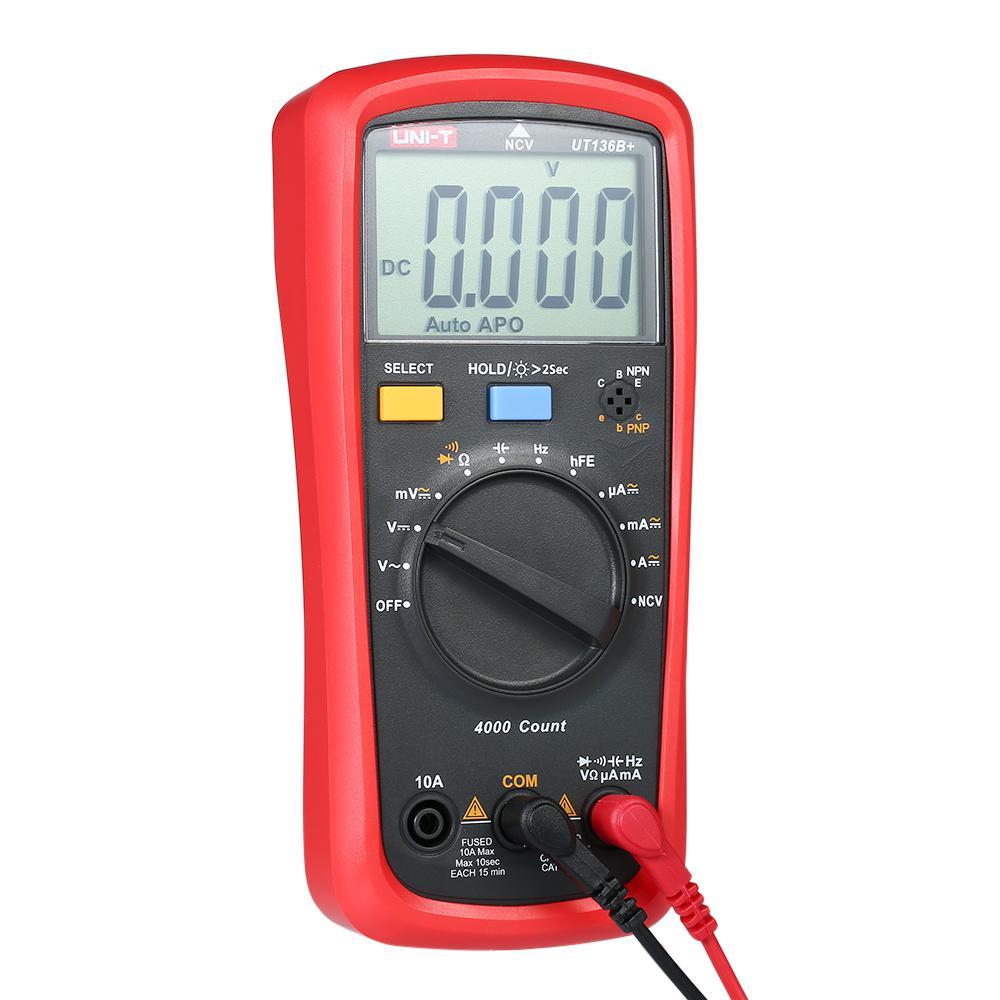 UNI-T Multimeter UT136B LCD Digital Multimeter Voltage Current Meter NCV Capacitance Resistance Diode Tester Voltmeter Ammeter - intl