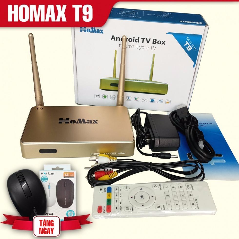 Hình ảnh Thiết bị TV Box HOMAX T9 Ram 2G (Vàng) + Tặng chuột không dây cao cấp