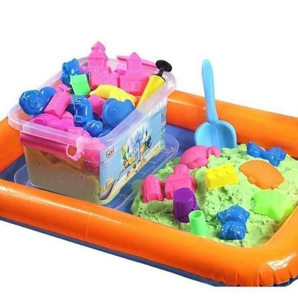 Hình ảnh Bộ đồ chơi khuôn tạo hình khối cát động lực vi sinh an toàn cho bé