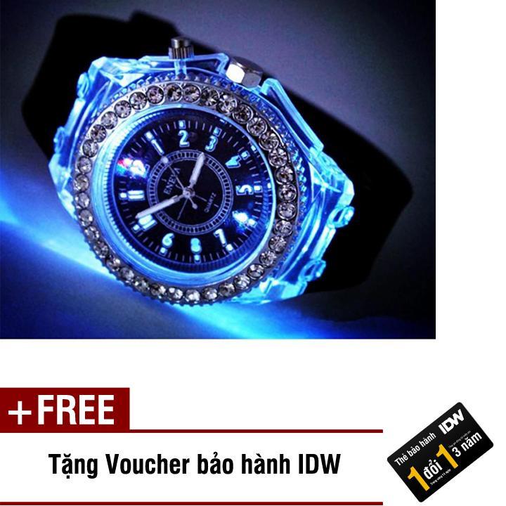 Hình ảnh [SP Freeship]Đồng hồ nữ phát sáng dây silicon size nhỏ 36mm ID S0411 + Tặng kèm voucher bảo hành IDW