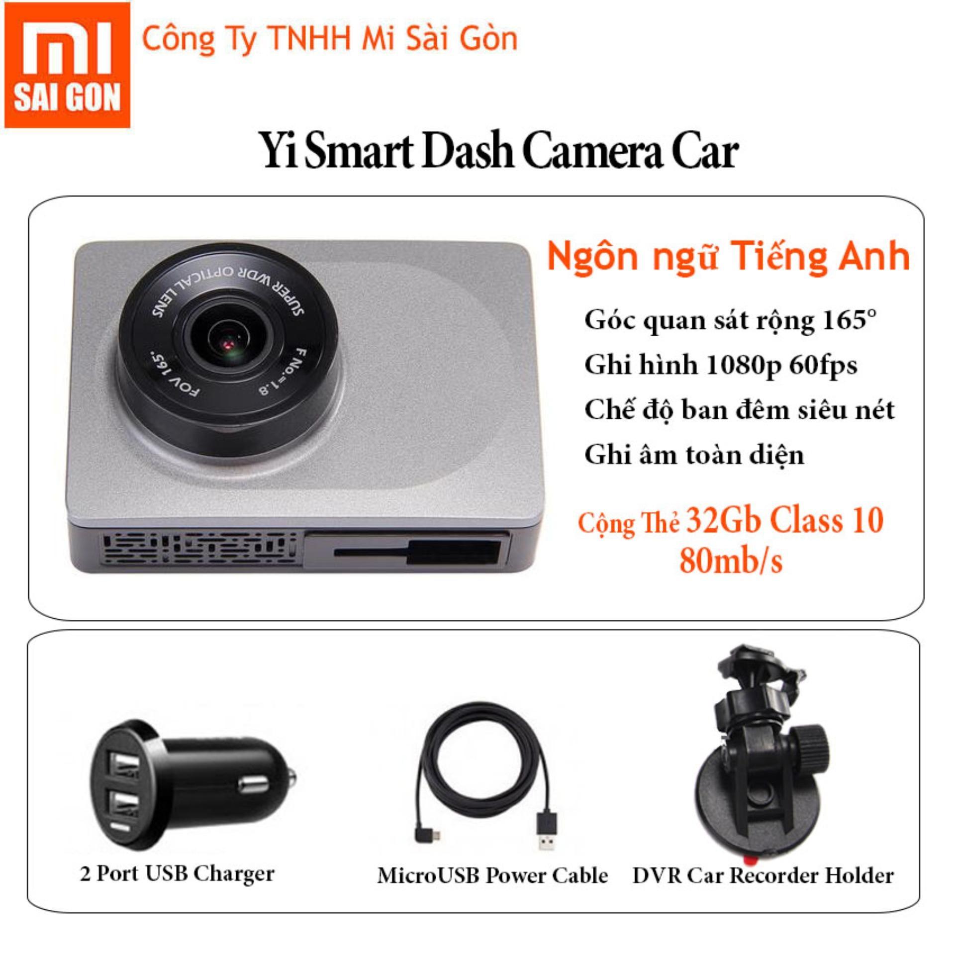 Mã Khuyến Mại Camera Hanh Trinh O To Xiaomi Yi Smart Car Kem Thẻ 32Gb Class 10 Xam Trong Hồ Chí Minh