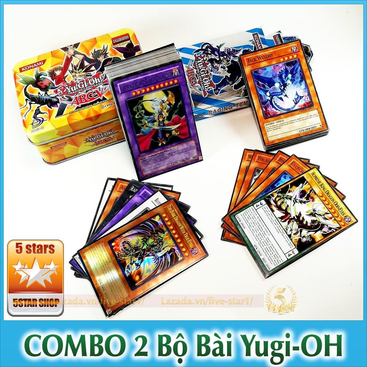 Hình ảnh (Xả kho) Combo 2 bộ bài Magic YuGiOh: Hộp sắt - 40 lá + Hộp giấy - 25 lá (MAGIC.NHOM+BIA)