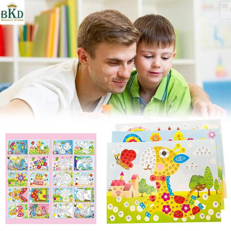 Hình ảnh Bkodak Store Cartoon DIY Color Random Diamond Embroidery 5D Embroidery