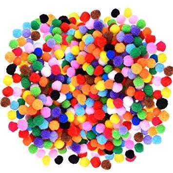 Hình ảnh Pom Pom - Đóng Túi 30 Viên - Nguyên Liệu Làm Slime