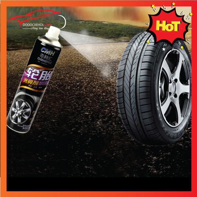 Bình xịt làm bóng và bảo vệ lốp xe ô tô  (Đen)