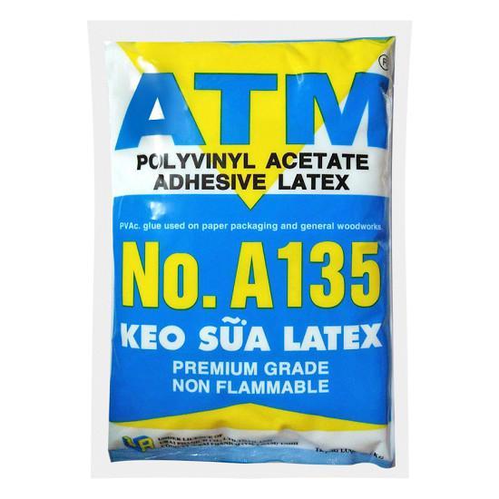 Hình ảnh Keo sữa ATM dán giấy, gỗ, làm slime 1kg/bịch