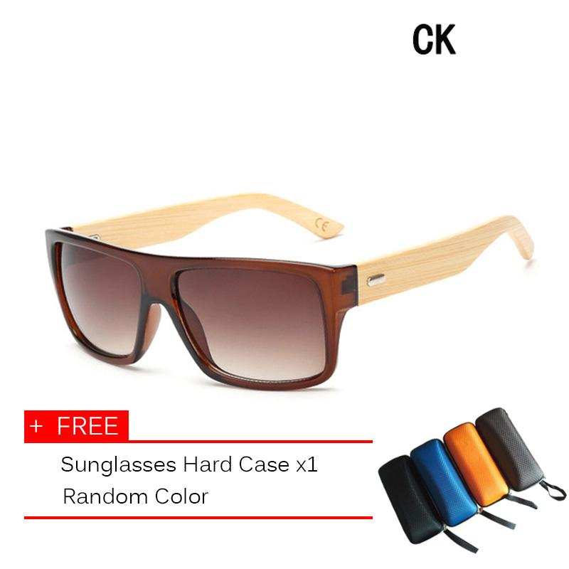 Original Wooden Bamboo Sunglasses Men Women Mirrored UV400 Sun Glasses Real Wood Shades Gold Blue Outdoor