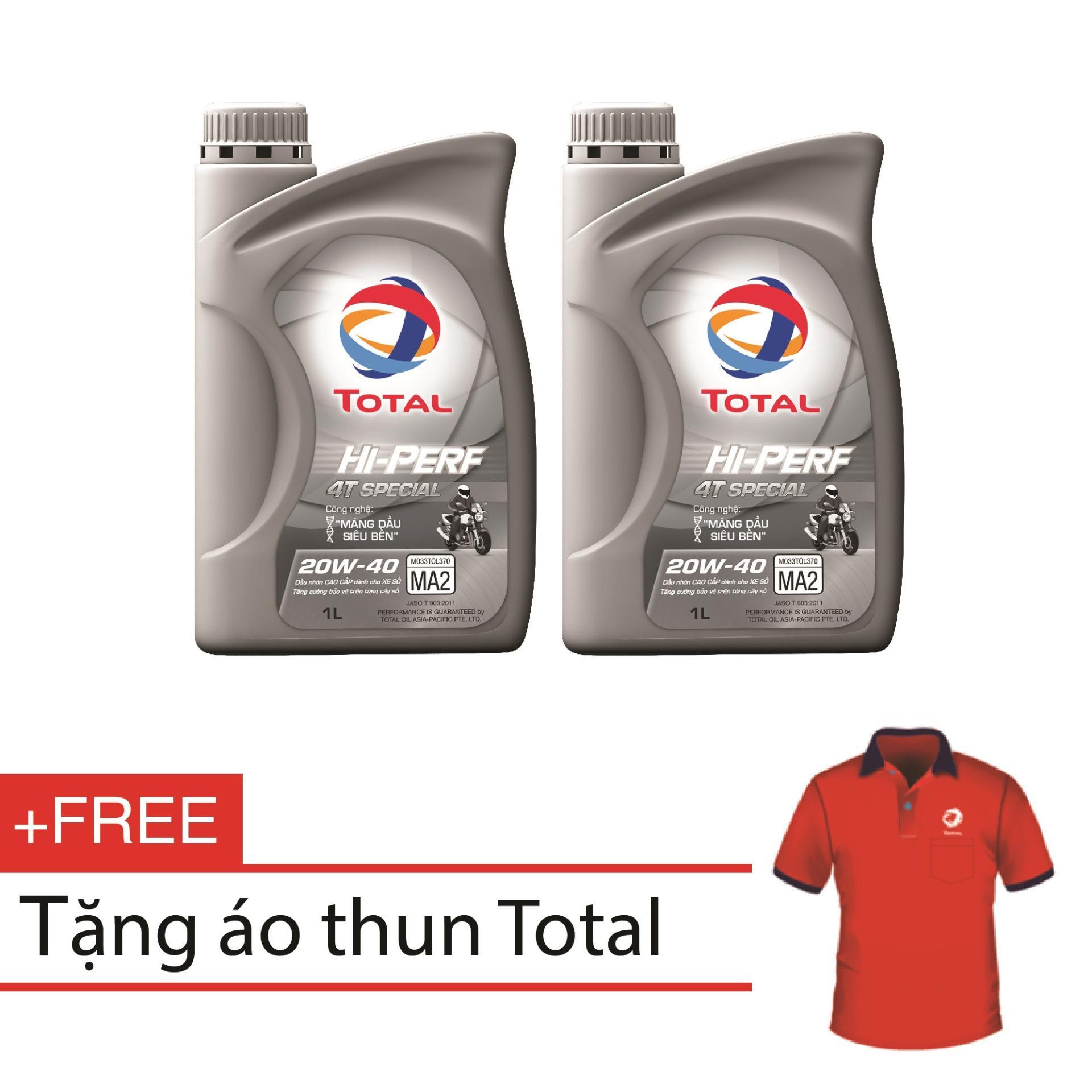 Bán Mua Combo 2 Binh Nhớt Xe Số Total Hi Perf 4T Special 20W40 1L Tặng Ao Thun Total Cao Cấp Hồ Chí Minh
