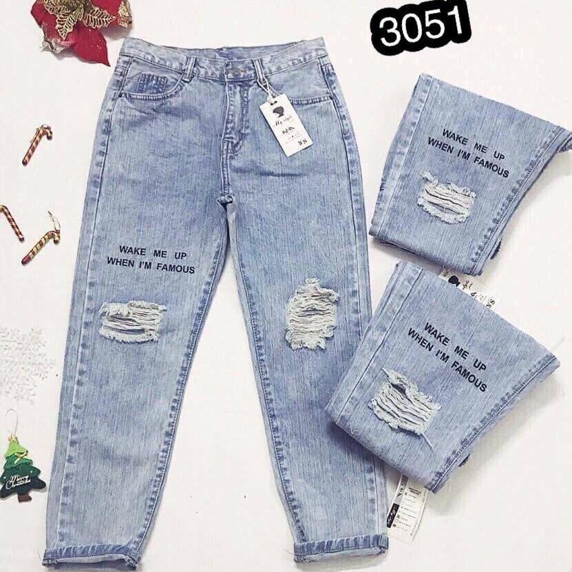 Giá Bán Quần Jeans Nữ Dạng Baggy Cao Cấp Ohs3051 Mới