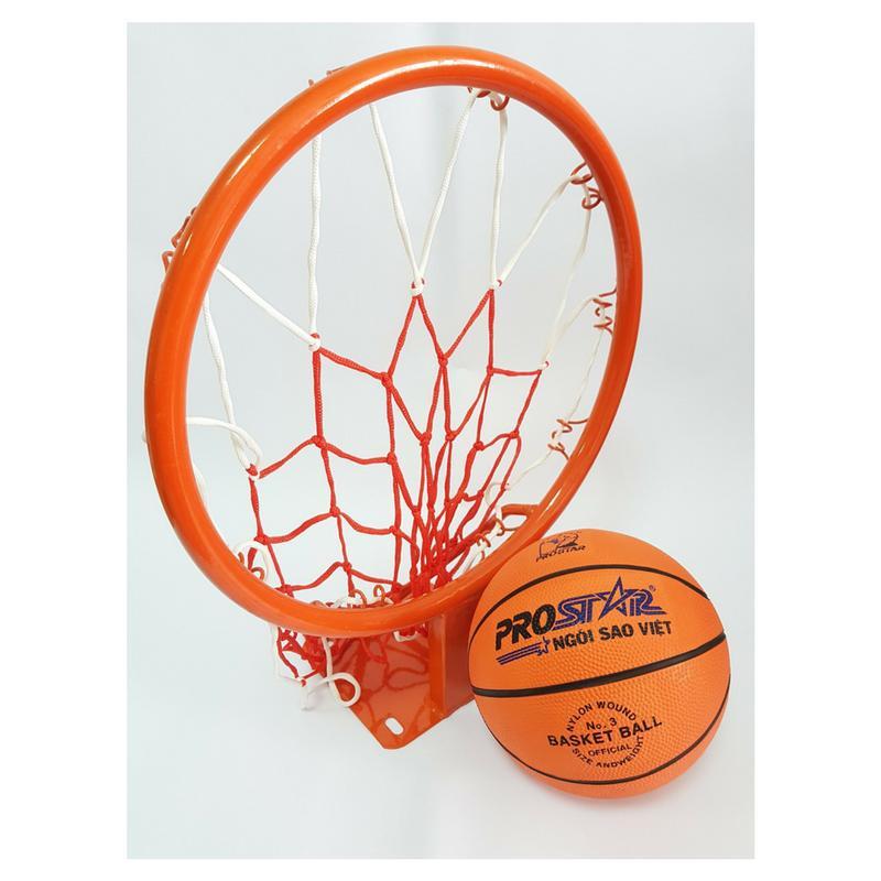 Hình ảnh Combo bộ Vành bóng rổ 35cm + Bóng rổ gerustar số 3