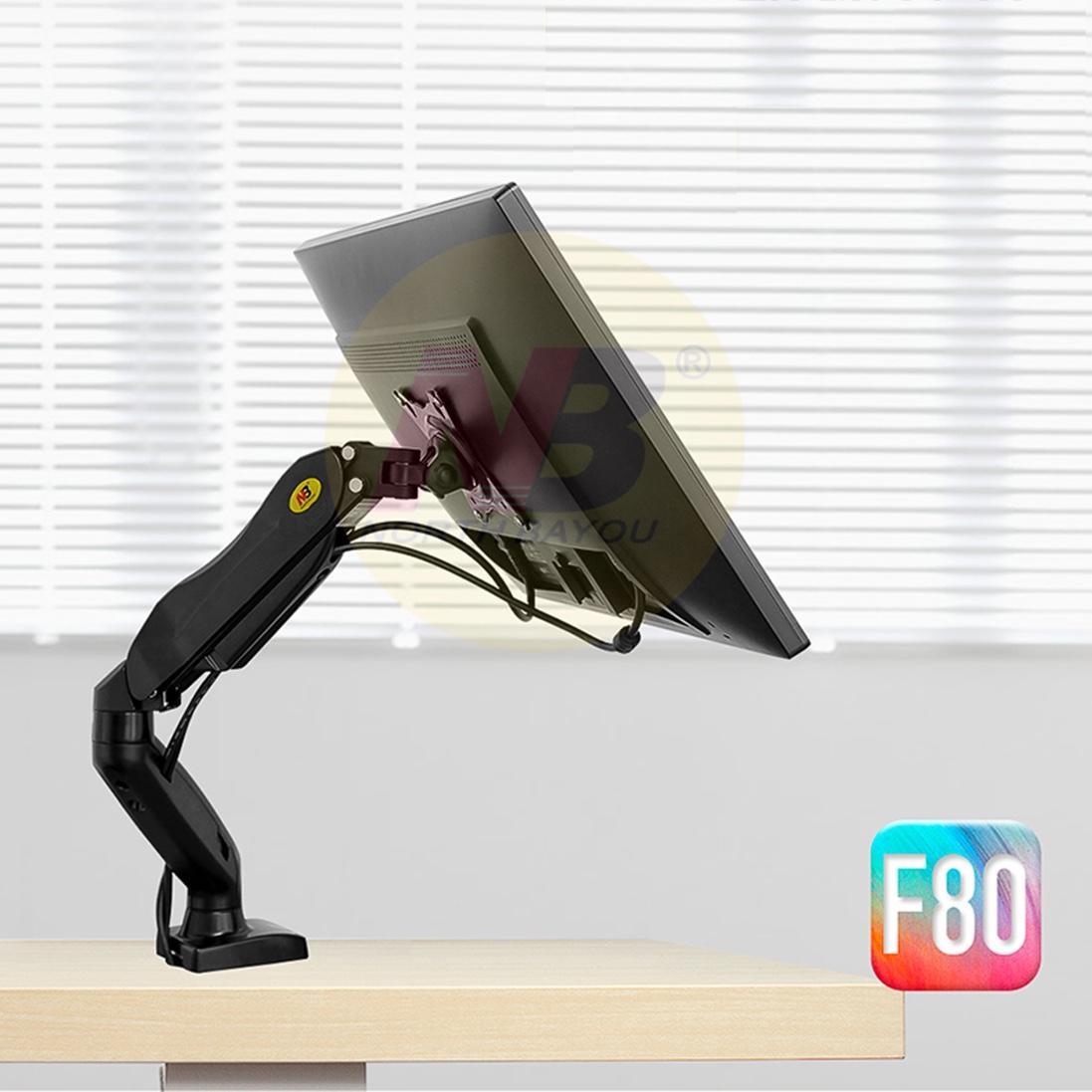 Hình ảnh Giá đỡ màn hình máy tính F80 17-27 inch - Xoay 360 độ