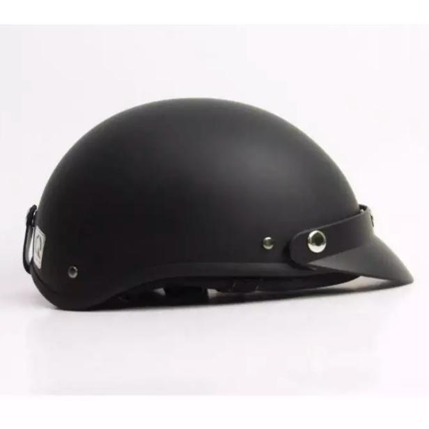 Mũ bảo hiểm 1/2 đầu đen trơn