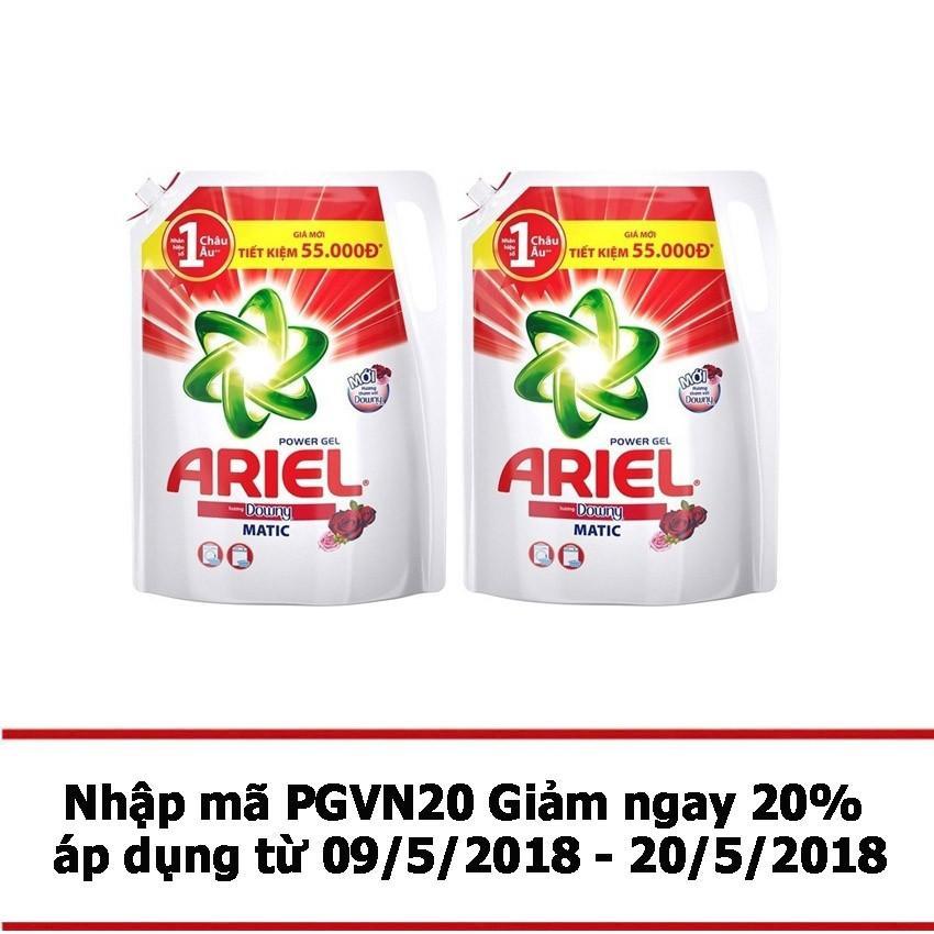 Mua Bộ 2 Tui Nước Giặt Ariel Matic Downy Gel Đậm Đặc 2 4Kg Rẻ Trong Hồ Chí Minh