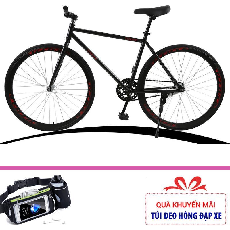 Xe đạp không phanh Airbike Sport cải tiến + Tặng túi đeo hông đựng đồ
