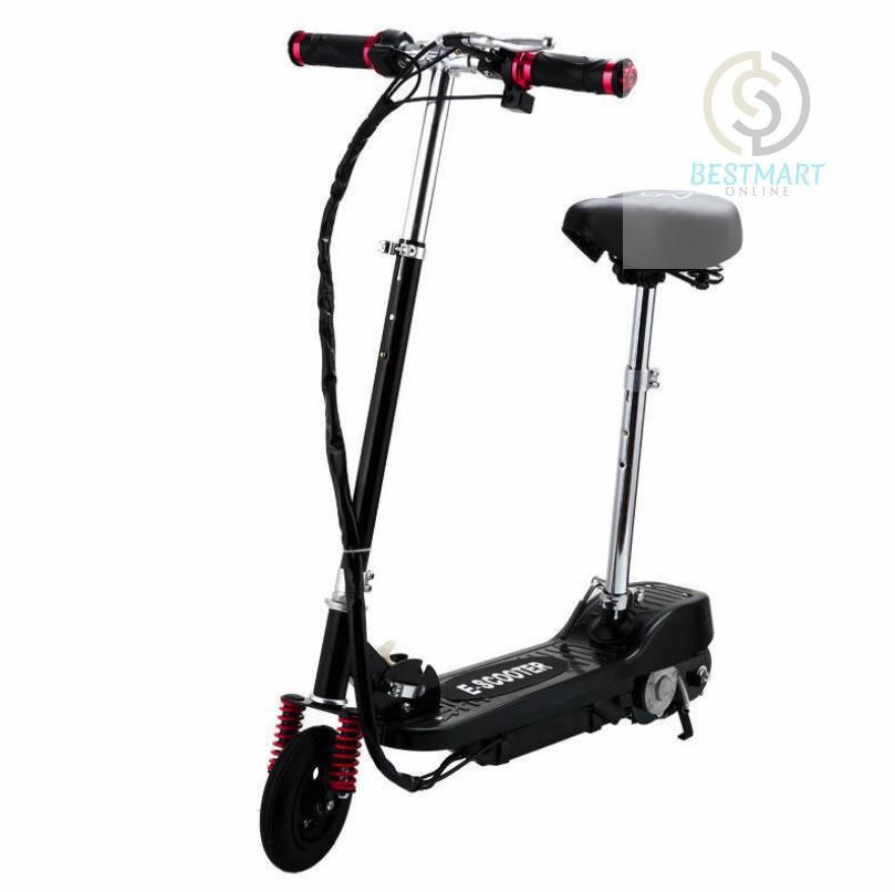 Xe scooter điện E-Scooter 15km/h, tải trọng 80kg, 120w (Black)