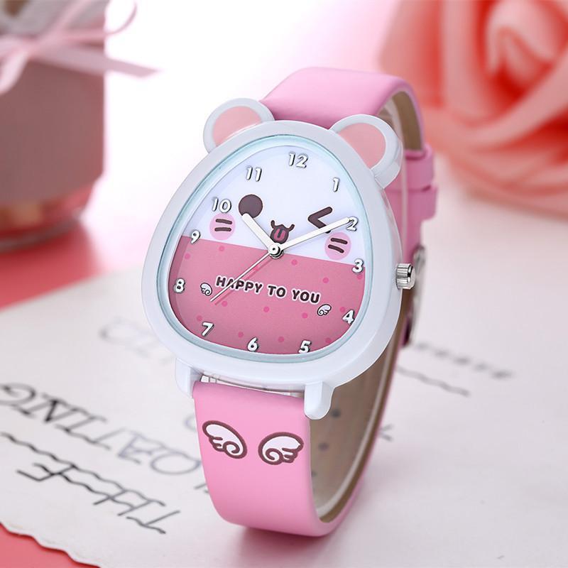 Nơi bán Đồng hồ trẻ em Decoshop68 W07-H màu hồng giá tốt
