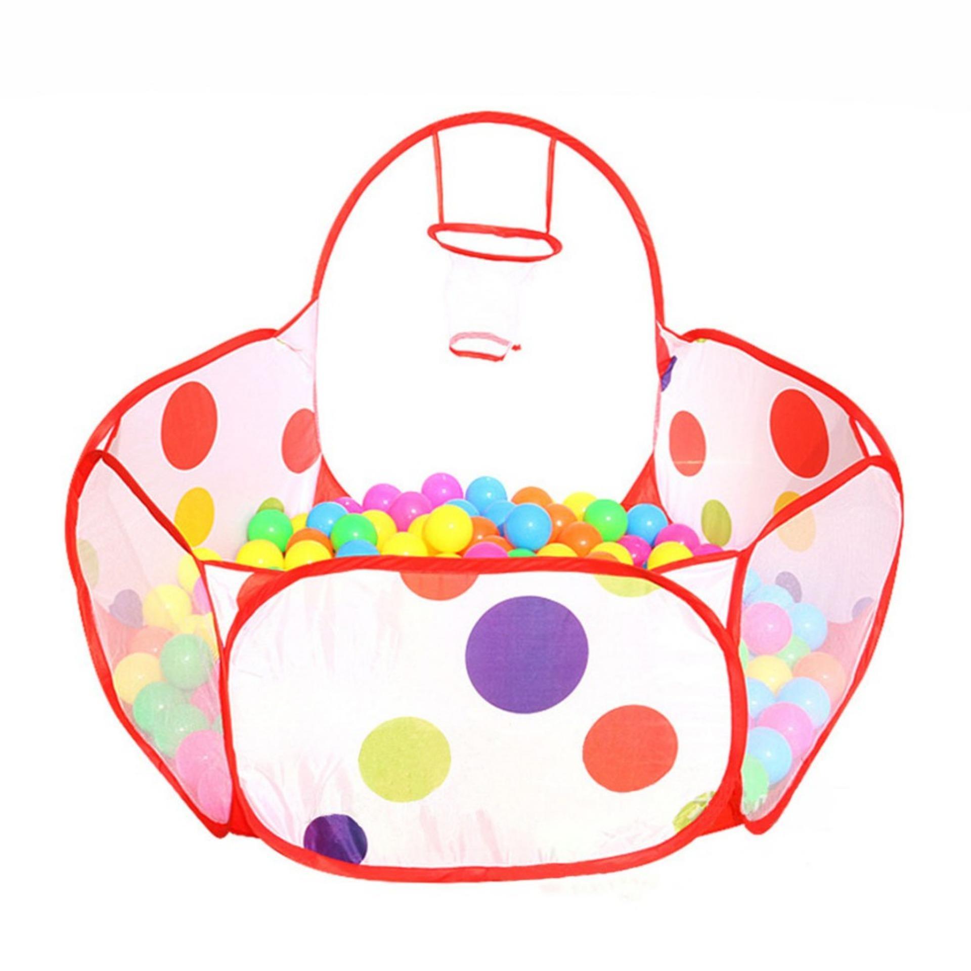 Hình ảnh Lều bóng nhà banh trẻ em kèm 200 bóng_Lều chấm bi