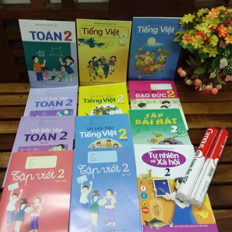 Mua Bộ sách giáo khoa lớp 2 ( gồm sách và bài tập 15 cuốn+2 tập bọc sách )
