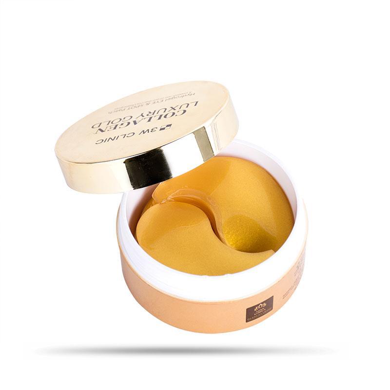 Mặt Nạ Trị Xóa Nhăn Vùng Mắt 3W Clinic Collagen Luxury Gold 90g (60 miếng)