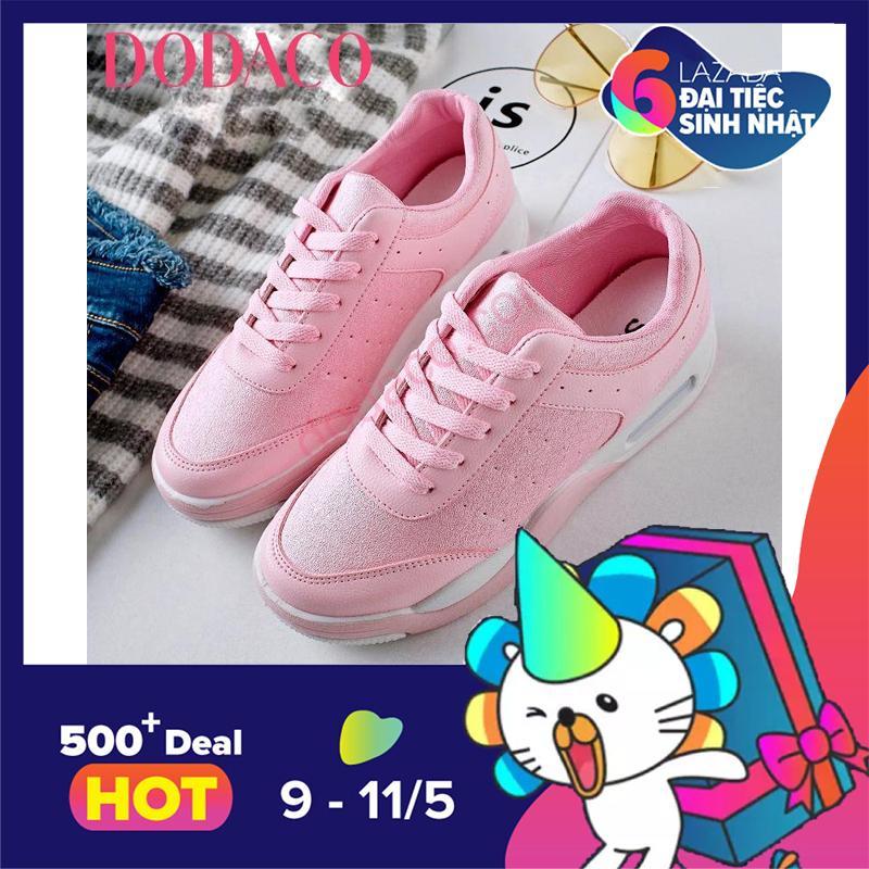 Cửa Hàng Giay Sneaker Nữ Giay Thể Thao Nữ Thời Trang Nữ Dodaco Ddc1871 Hồng Dodaco Trực Tuyến