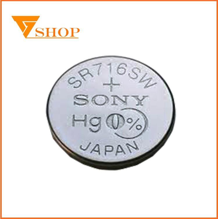 Hình ảnh 1 vỉ Pin đồng hồ SR716SW Sony1.55V, pin 315( 1 vỉ 1 viên )