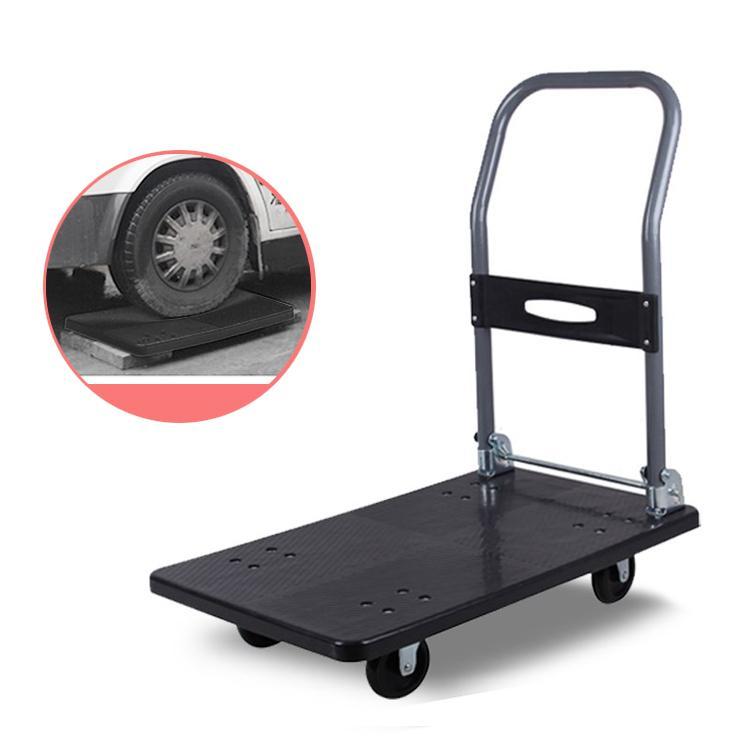 Xe đẩy hàng Fami-Car chống ồn gấp gọn nhựa tải trọng 100kg  (Black)
