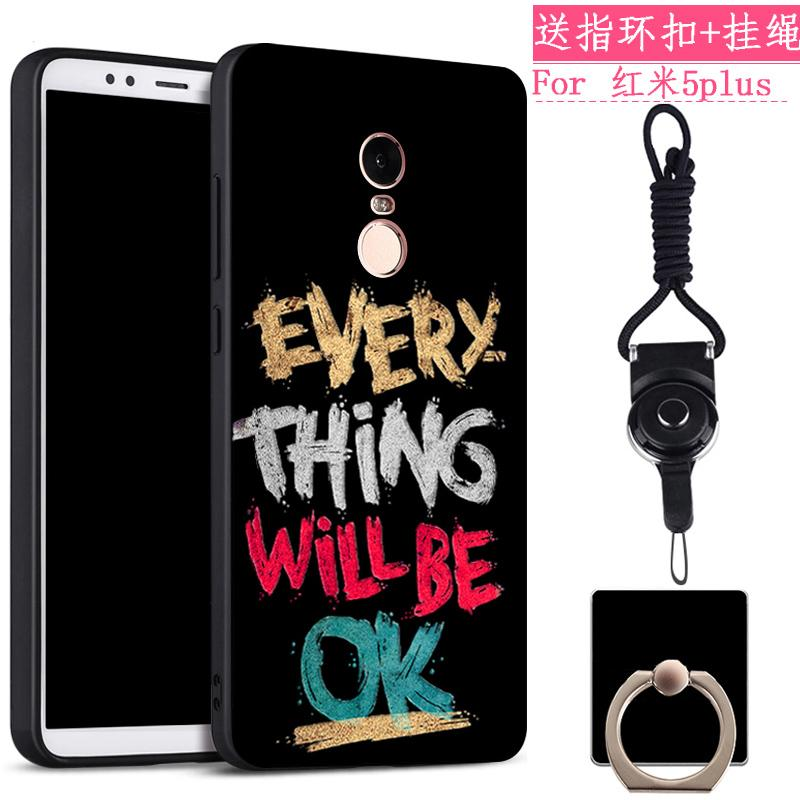 Xiaomi redmi 5 plus Casing HP model uniseks soft Tipis Silikon tali gantungan redmi Casing ULTRAGROW Imut anti jatuh Baur kreatif kepribadian Bungkus Penuh pos pemeriksaan perbatasan 通网 Redsun Korea Chasing luar pasangan pasang