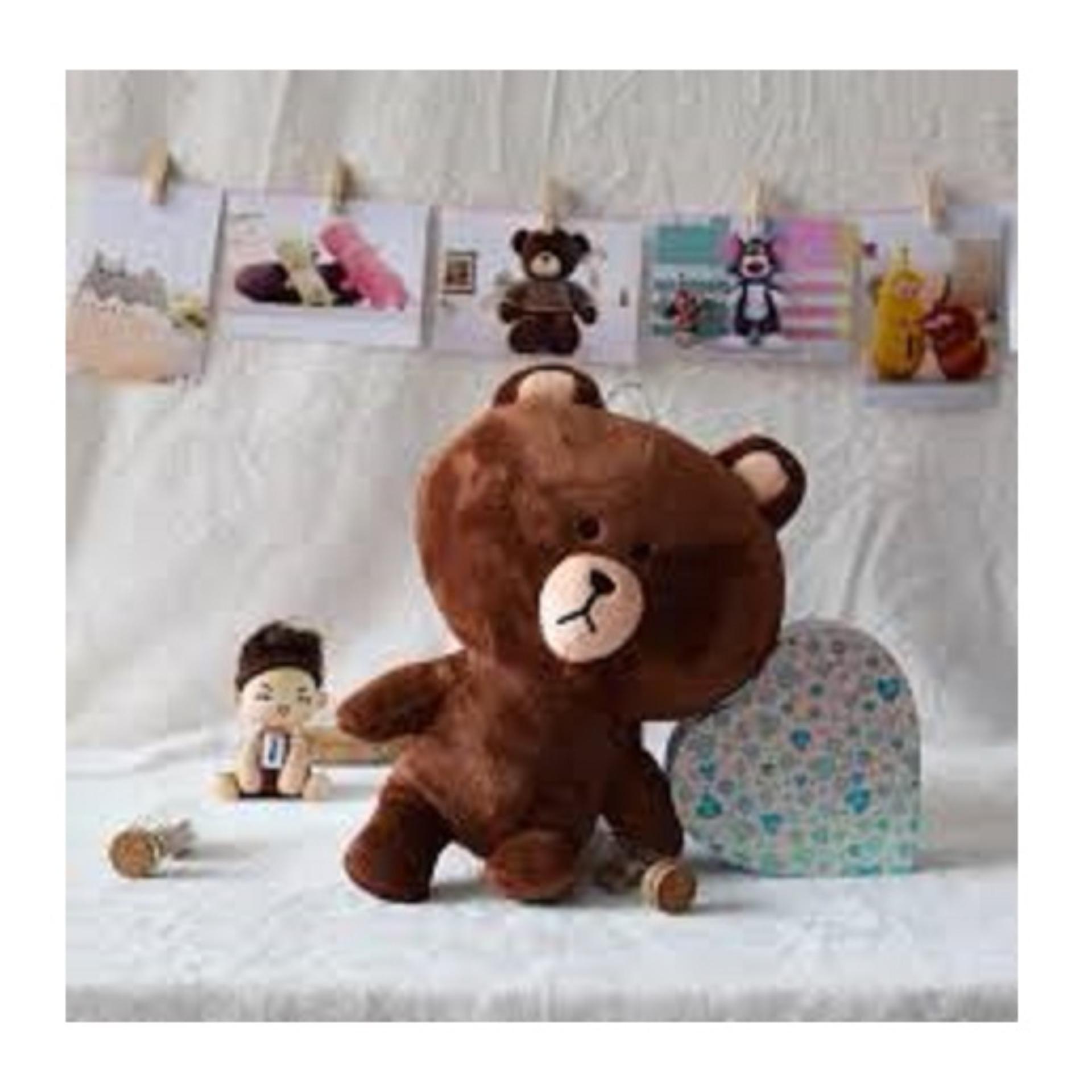 Hình ảnh Gấu Brown nhồi bông cực đáng yêu size 20cm