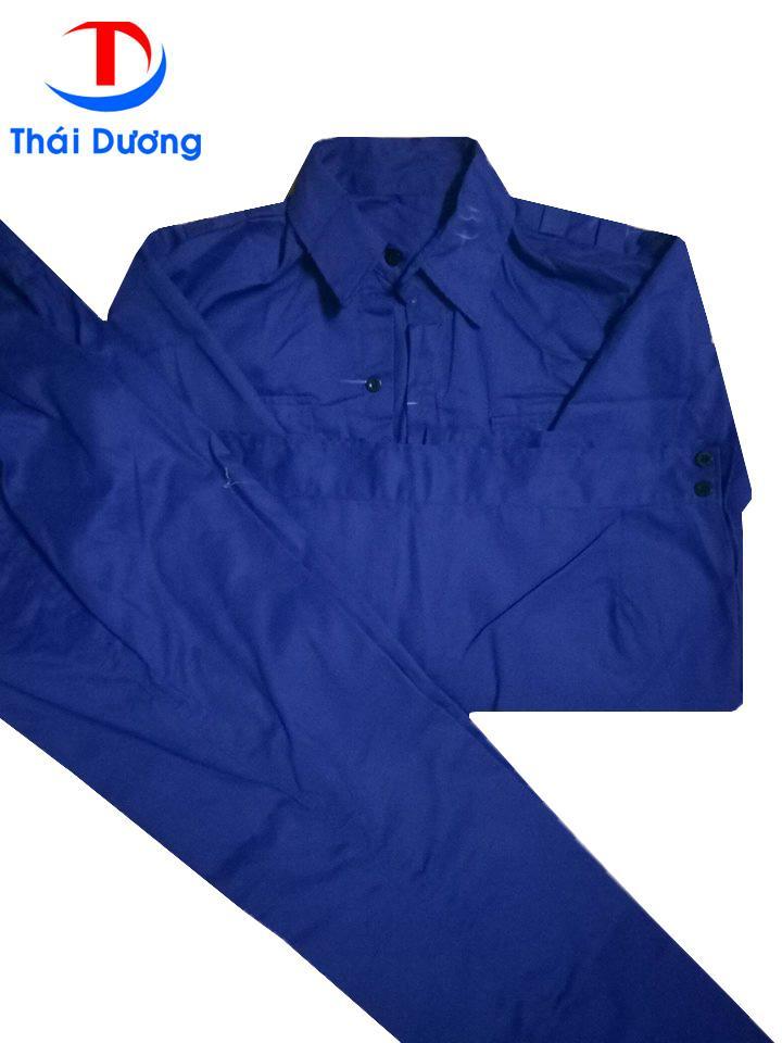 Bộ quần áo Bảo Hộ lao động kaki màu Xanh Size 5 (S)